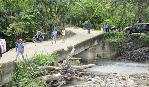 Puente Blanco Arriba Gaspar Hernández sera reparado por Obras Publicas.