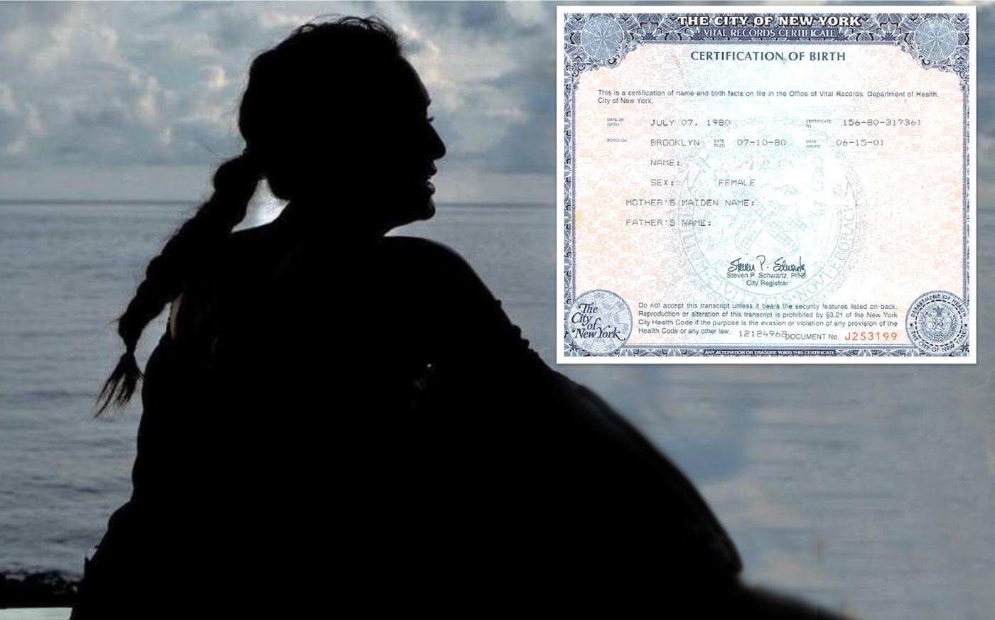 Asombroso El Orden De Nacimiento Certificado De Nyc Ilustración ...